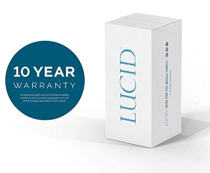 LUCID mattresses offer 10-Year limited Warranty