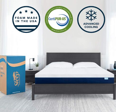 Bed mattress in a Box, Made in the USA, 10-Year Warranty, Queen, White