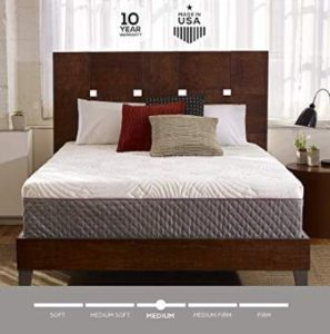 Bed in a Box, Quilted Cover, Made in The USA, 10-Year Warranty - Queen Size